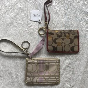 Coach wristlet, ID holder for lanyard